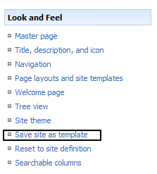 sharepoint save as template